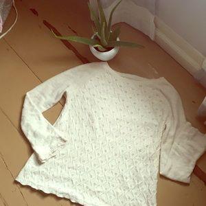 LOFT scallop hem sweater M